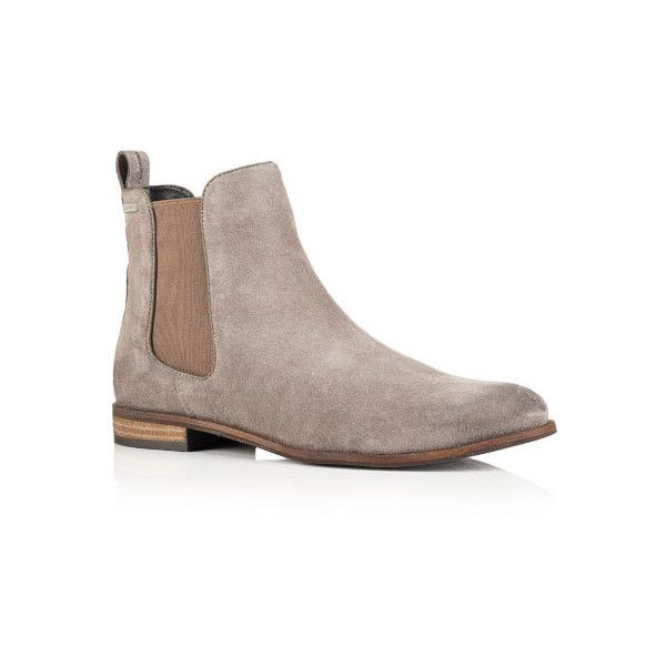 Superdry Millie Suede Chelsea Boots ($80) ❤ liked on Polyvore featuring shoes, boots, ankle booties, dark grey, suede leather boots, elastic boots, superdry boots, dark grey boots and suede booties