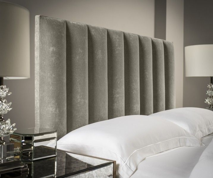 Our Tubes Vertical Upholstered Headboard is Exclusive to Sueno. This is a  high quality Upholstered Headboard at prices you simply cannot ignore.