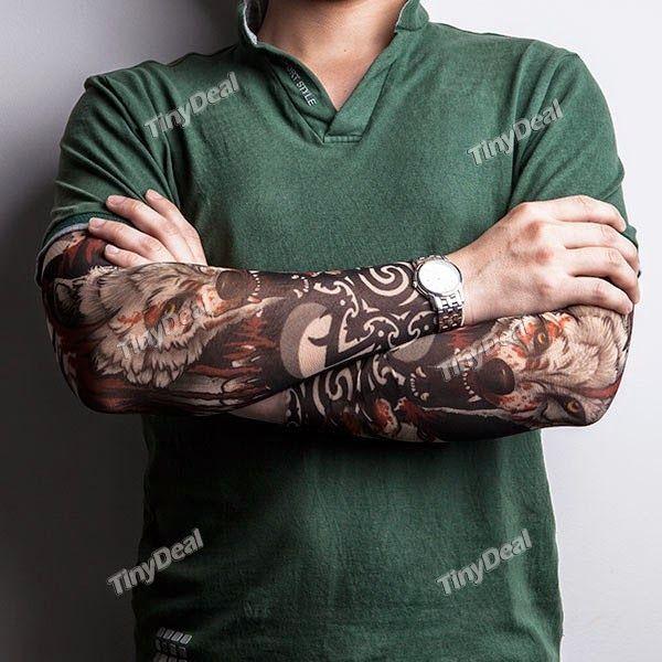 Интернет - магазины : Мужские рукава – татуировки с изображением волка, ...