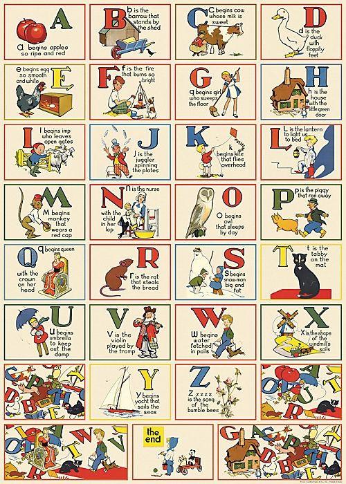 Poster - ABC i gruppen Vintage hos Reforma Sthlm (14026-Multi-CAV-M)