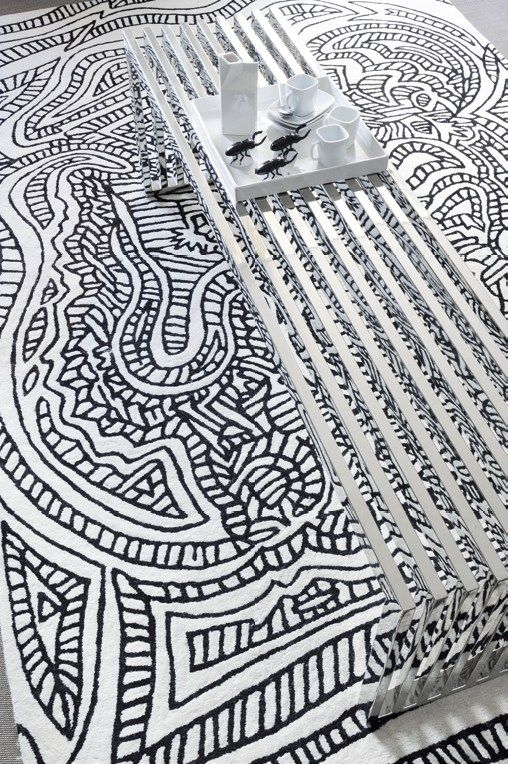 Handmade wool #rug DRAGOON by Toulemonde Bochart | #design François Champsaur @Toulemonde Bochart