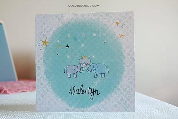geboortekaartje olifantjes valentijn coeurblonde #verhuiskaarten #geboortekaartjes #newborn #vormgeving #trouwkaarten #invitations #illustraties