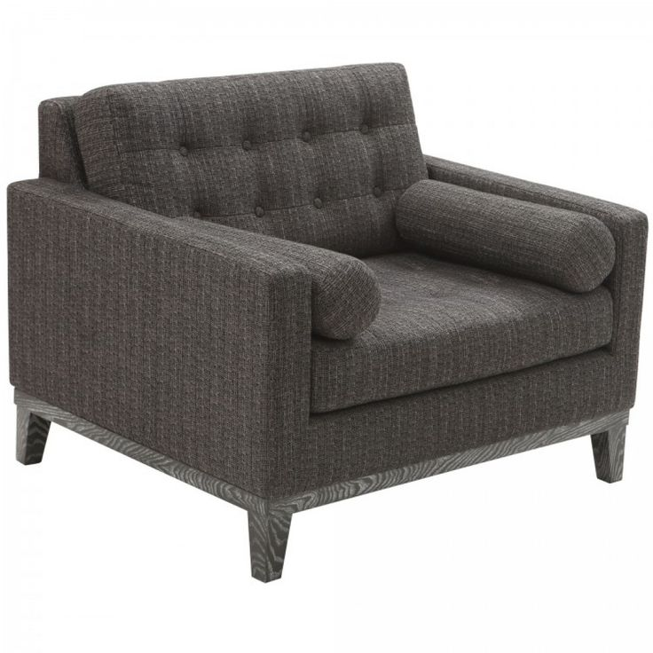 Centennial Chair Charcoal Chenille Fabric