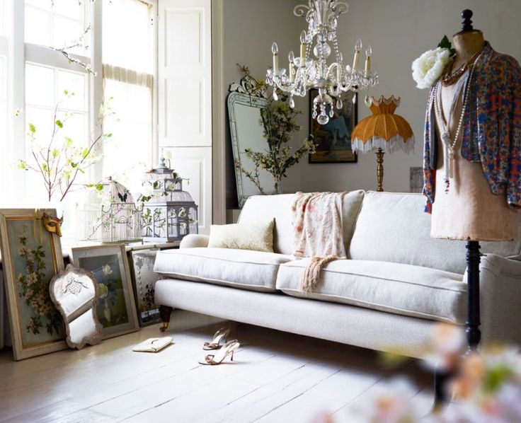 The Bluebell three seat sofa in Undyed linen, €1.940