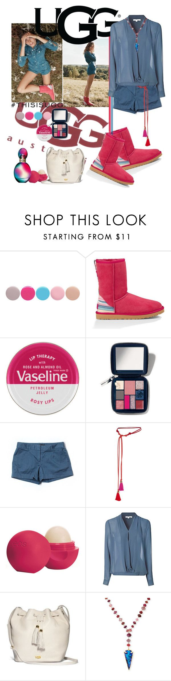 """Play With Prints In UGG: Contest Entry"" by iraavalon on Polyvore featuring UGG Australia, Nails Inc., Therapy, Bobbi Brown Cosmetics, BCBGMAXAZRIA, Lanvin, Eos, Glamorous, Devon Leigh and Missoni"