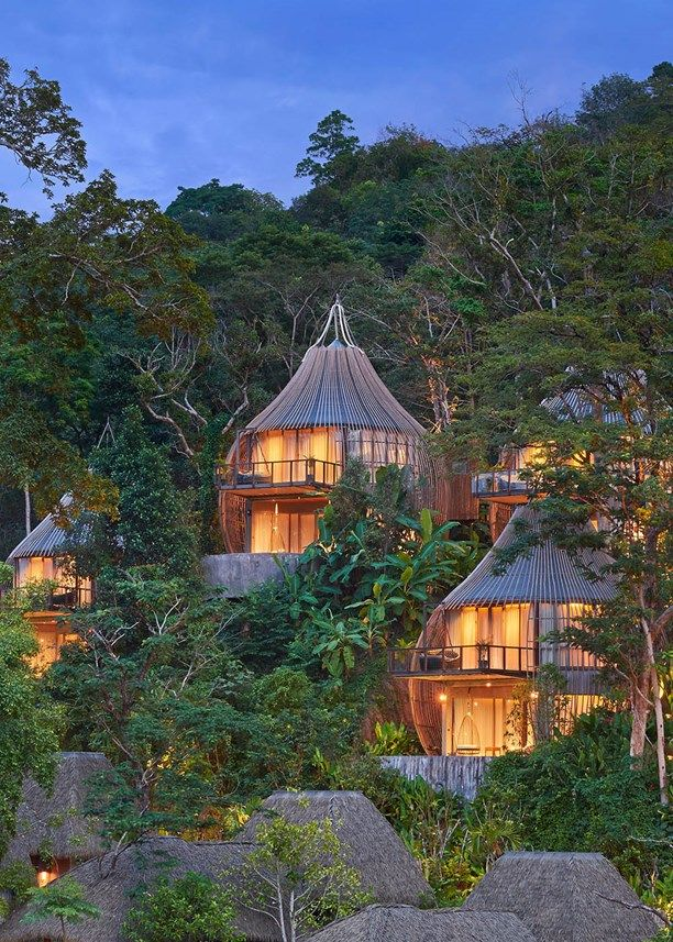 I don't know about you but I can really use a holistic retreat right about now. One of Thailand's most picturesque halcyon resorts, nestled in the lush forests of Phuket, looks like the perfect place for some peaceful rest and oms. Keemala's seven tree houses, each equipped with their own private
