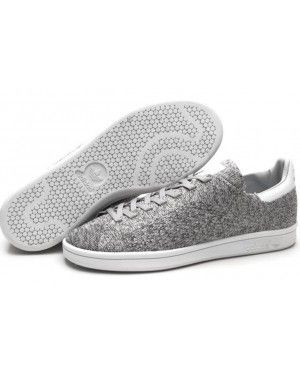 481e3864b40e Unisex President Adidas Originals Stan Smith Flyknit Gray White Finish Line