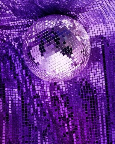Purple Sparkle Background | ... Purple disco mirror ball reflect light on glitter canvas background