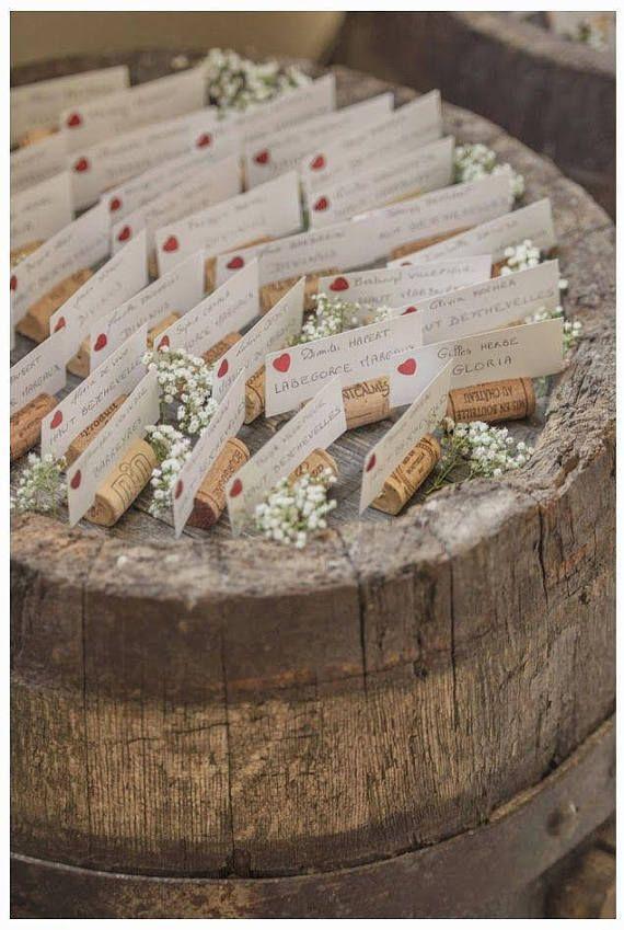 200 détenteurs de Placecard bouchon de vin
