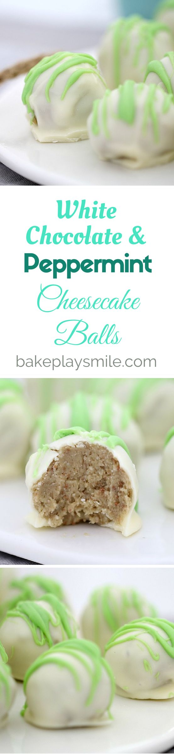 The easiest White Chocolate and Peppermint Crisp Cheesecake Balls ever!!! These take 10 minutes to prepare, are completely no-bake and taste amazing!!! Perfect as gifts for family and friends! #chocolate #peppermint #cheesecake #balls #truffles #easy #nobake #timtams #christmas
