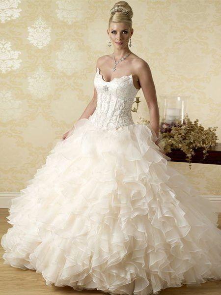 Ruffle wedding dress uk cheap