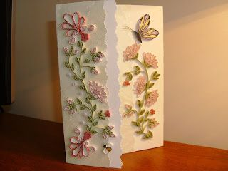 Paper Filigree Art - Quilling: Another card with center opening