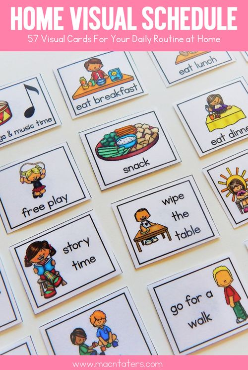 Home Visual Schedule and Routine For Toddlers and Preschoolers