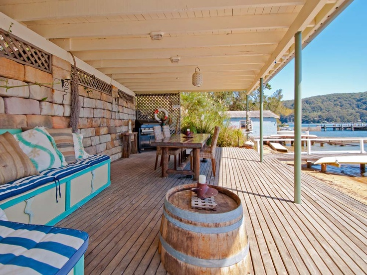 Our boat shed, the best entertainment area ever.45 Robertson Road Scotland Island | PMC Hill Real Estate