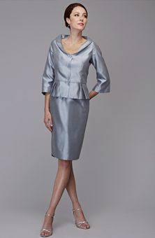 Brides: Siri : Style No. 5812 Hepburn Peplum : Mother-of-the-Bride Dresses Gallery