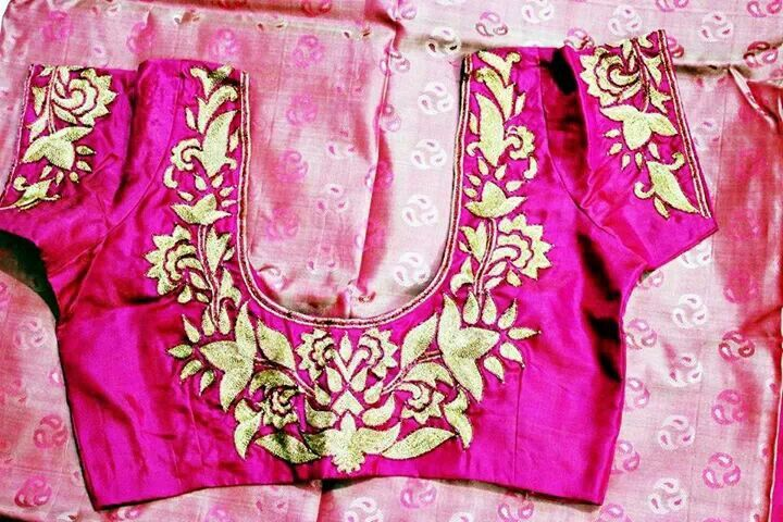 Zari work hand embroidery designs pinterest