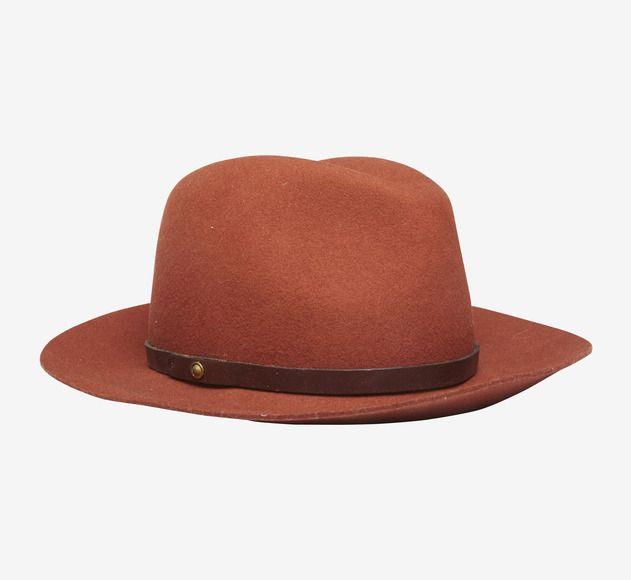 Rag  Bone Orange And Brown Hat