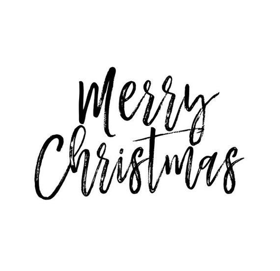 Merry Christmas Text Overlay Png Clip Art Modern Etsy Merry Christmas Text Christmas Text Christmas Calligraphy