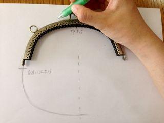 毎日暑いですね、cherin-cherinです。(*^_^*)今日は、まちのない、平たいがま口の型紙の作り方をご紹介します♪前回、こちらのがま口をご紹介しましたが、こちらの型紙はとても簡単です。がま口をそのまま書き写します。下の袋の形は、縫