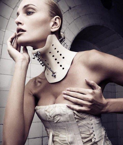 Fetish neck brace corset