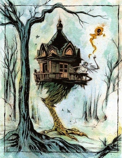 I'm loving my new book, Baba Yaga: The Ambiguous Mother and Witch of the Russian Folklore  by Andreas Johns. It came highly recommended by H...