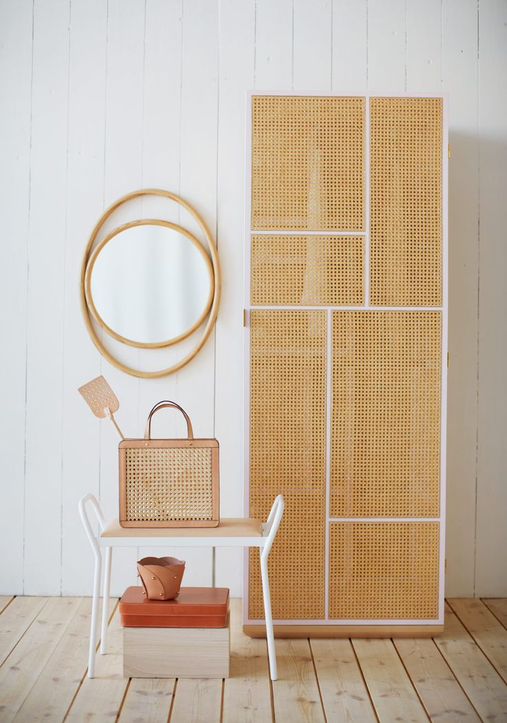 rattan woven furniture, bamboo mirror