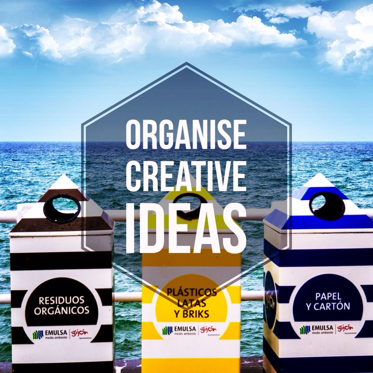 When we have so many creative and diverse ideas, it is a simply good idea (I know too many ideas, literary) organise them in a particularly way. Try it and see what you can come up with.  We can find a simple idea in #Life! We are #Creatives!