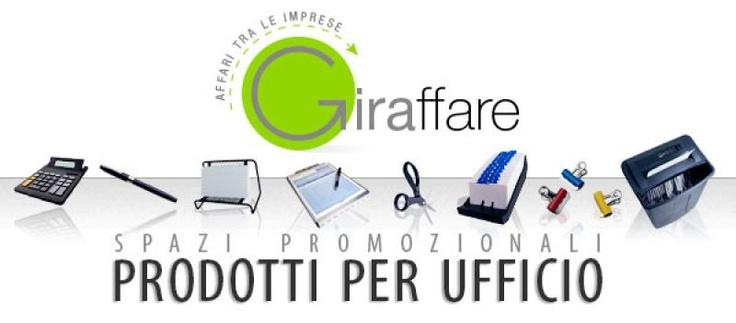 Spazio pubblicitario online nella sezione Prodotti per Ufficio del nuovo portale Giraffare.it