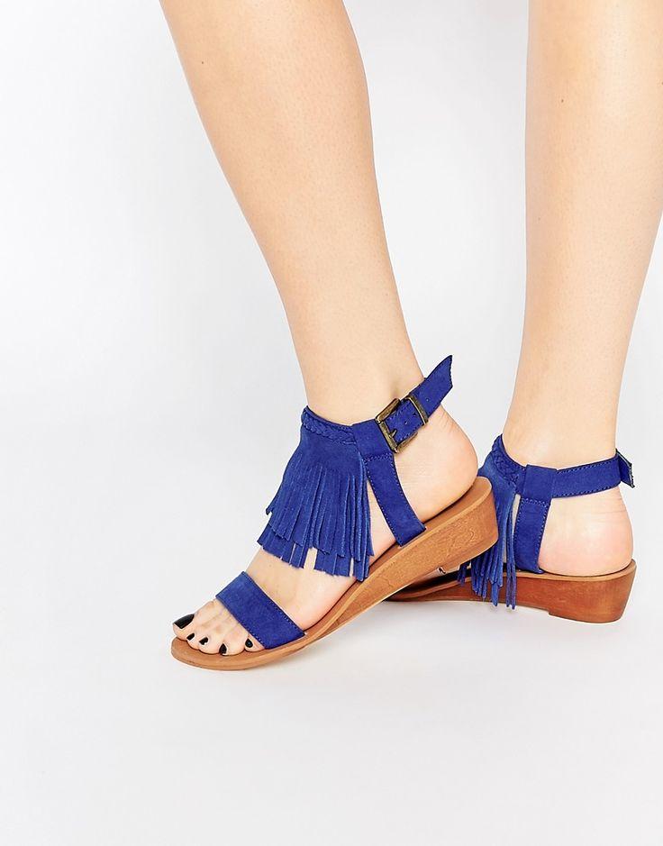 Image 1 - ASOS - FABIO - Sandales à petites semelles compensées et franges