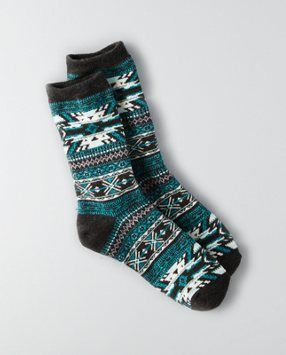 KNOCK YOUR SOCKS OFF. We've got you covered. Shop the AEO Crew Socks from American Eagle Outfitters. Check out the entire American Eagle Outfitters website to find the best items to pair with the AEO Crew Socks.