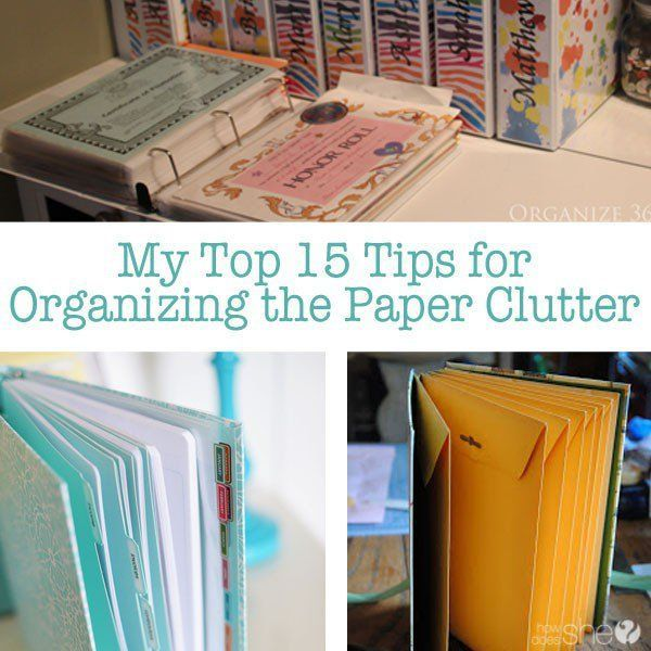 organize paper clutter Paper clutter on your countertops: go from this : to this paper's were sorted and organized into the blue stand using hanging folders and a tickler file.