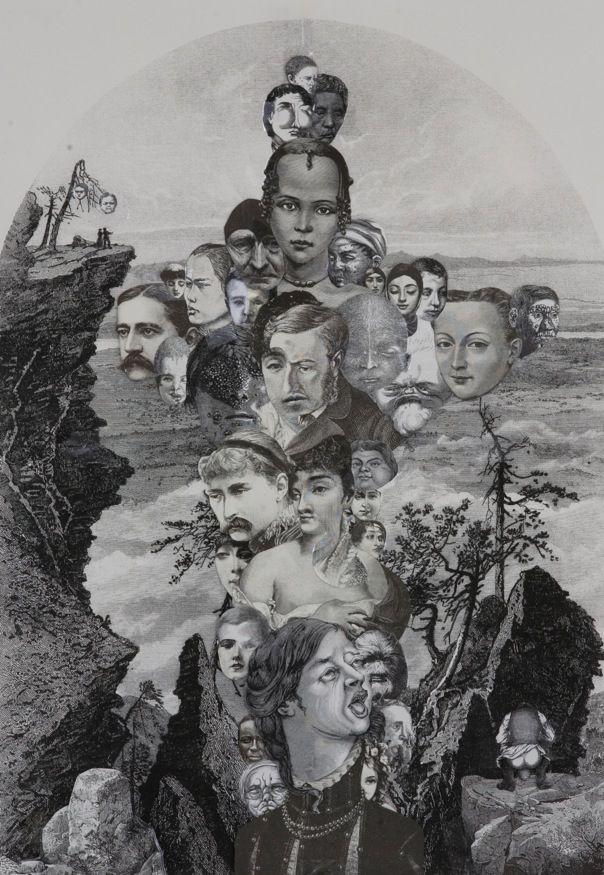 Title: Crucifixion - 2014 Collage on paper Size with passepartout: cm 57x39 Unique piece