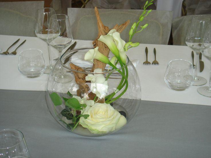 Les 87 meilleures images propos de id es d co mariage for Centre de table en bois flotte