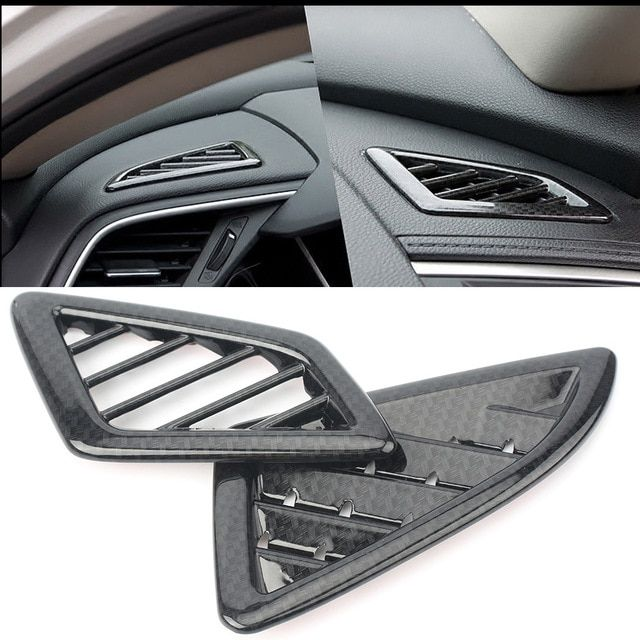 Carbon Fiber Style Dashboard Side Air Vent Outlet Trim 2X For Honda Accord 2018