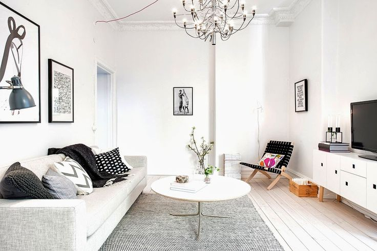 Swedish apartment in white and grey. Alvhem.