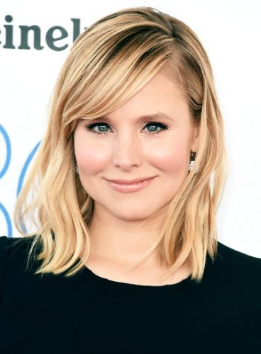Kristen Bell Long Blonde Bob Lob Haircut Hairstyle With