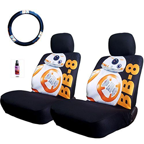 New Star Wars BB8 Car Truck SUV Seat Covers Steering Wheel Cover with Travel Size Purple Slice ** You can find out more details at the link of the image.Note:It is affiliate link to Amazon.