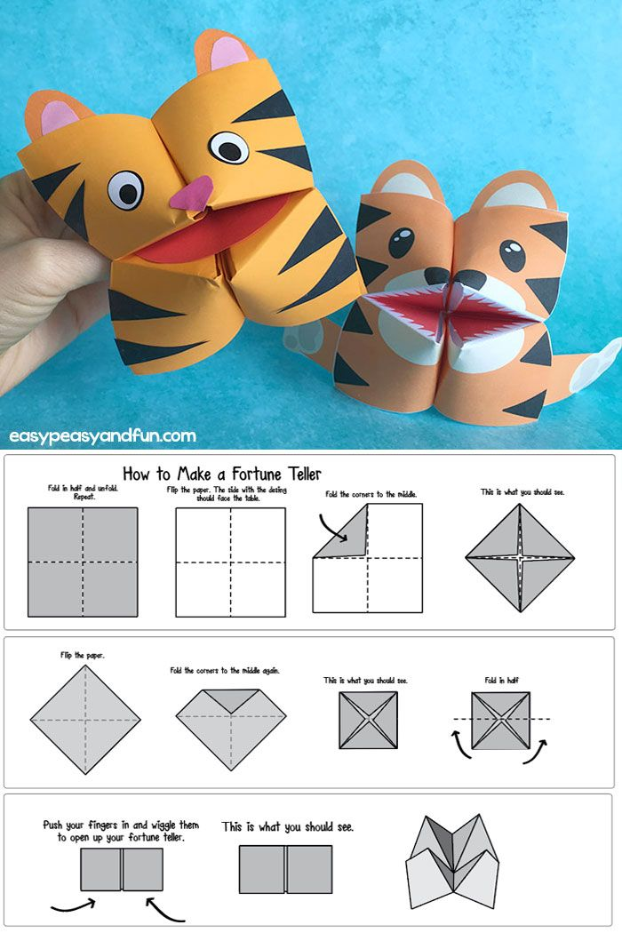How To Make A Fortune Teller Printable Diagram Included Cootie