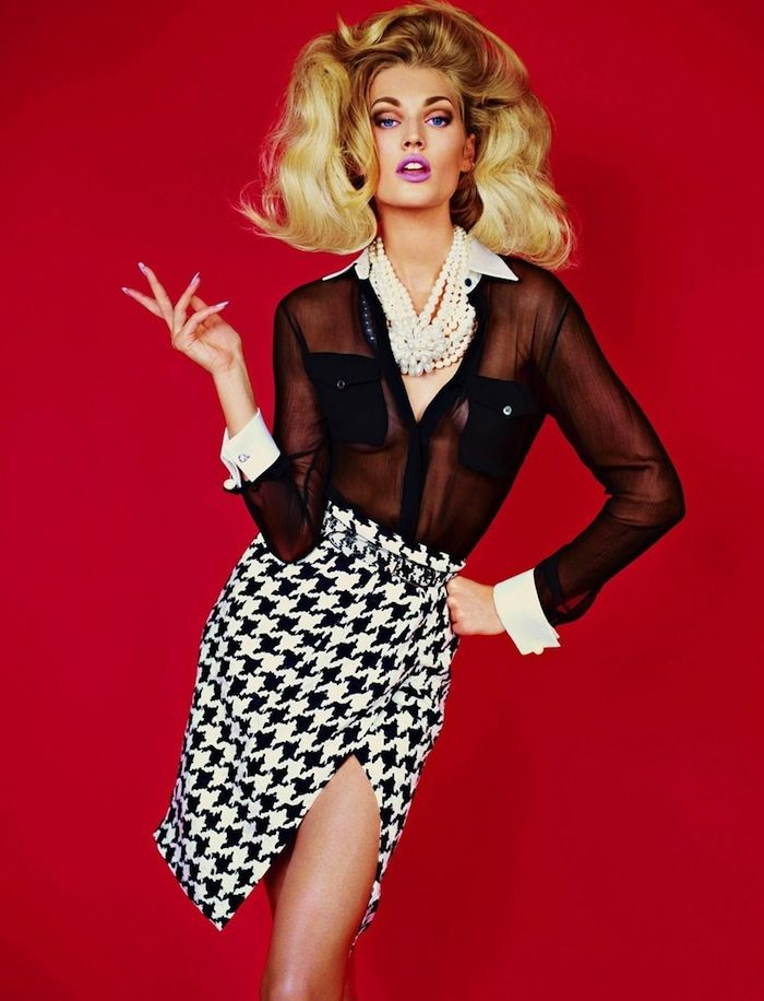 """#60s #Fashion #Trends are back in Full-Swing! And What goes better with 60′s Fashion than Big, #Glamorous, Extra-Volumized #Hairstyles!? (No, we're not talking about the """"Snooki Poof"""") We're talking over the top, #Sex #Kitten #Hair. #Supermodel #Toni #Garrn proves that bigger is definitely better as she showcases her Ultra-Teased up #Blonde Tresses for the latest issue of #Muse #Magazine (Fall 2011) ❤ Can you say #Bombshell!!!"""