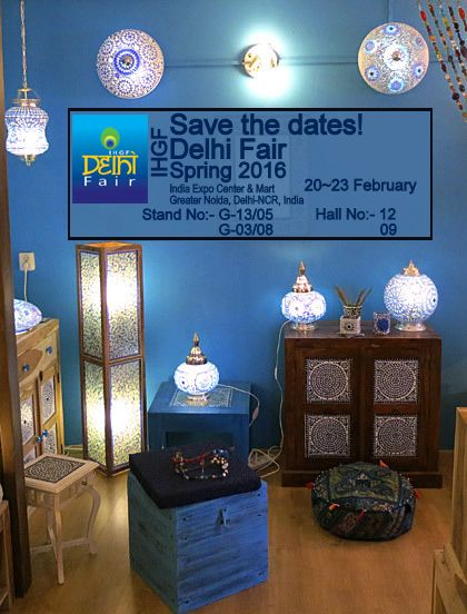 Save the dates for upcoming Event  IHGF Delhi Fair Spring 2016.... @......http://www.deshilp.in/