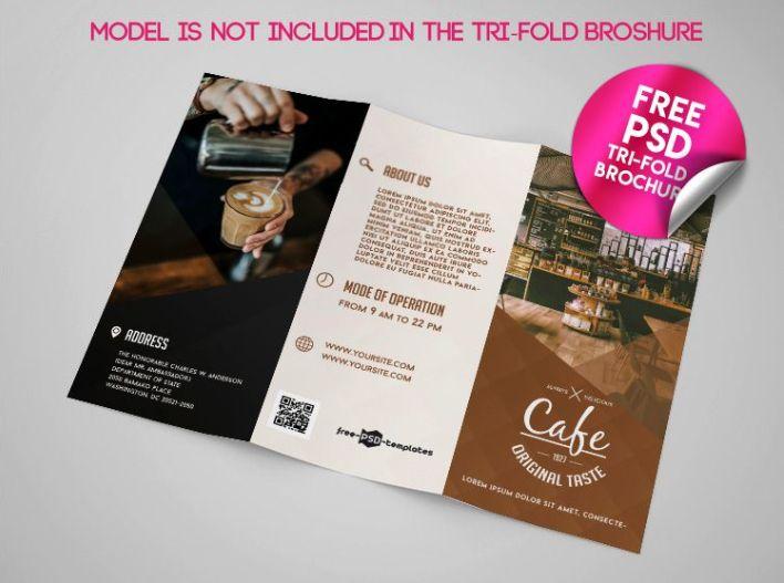 Cafe Tri Fold Brochure Mockup Psd Template Mockup Free Downloads Brochure Mockup Free Trifold Brochure Brochure Mockup Psd