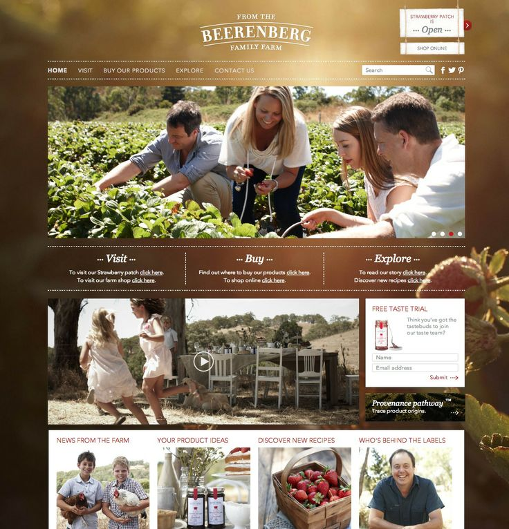 #farm #website #design