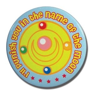 """Sailormoon - Sailor Moon Punish in the Name of Moon """"2 Button - my equivalent of the Solomonic Pentagram"""