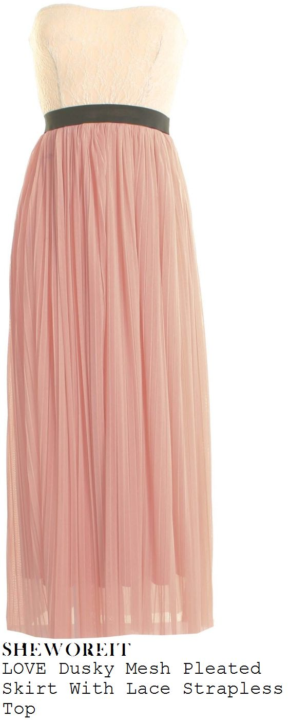 Cream strapless maxi dress