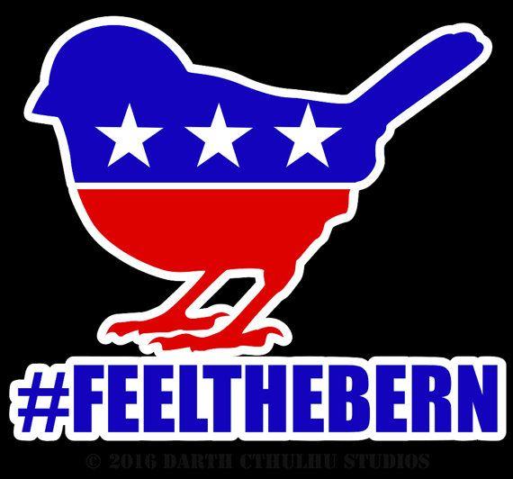 Political Symbol Bird  Bernie Sanders by DarthCthulhuStudio