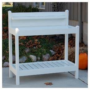Greenfield Potting Bench - White - Dura-Trel : Target