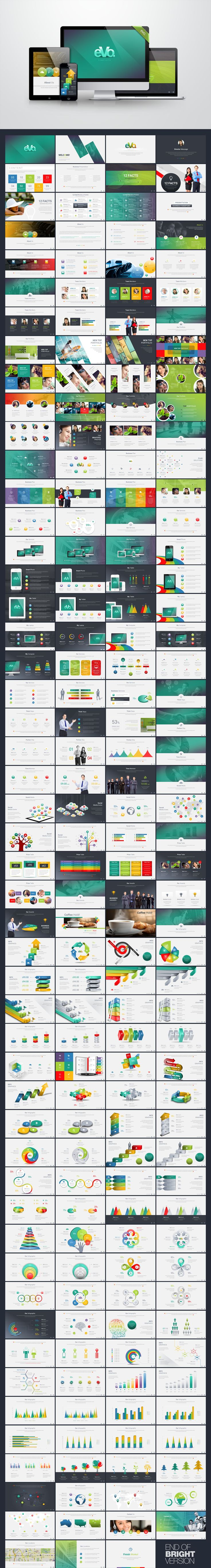 Business Plan with 3D Infographics PowerPoint Template