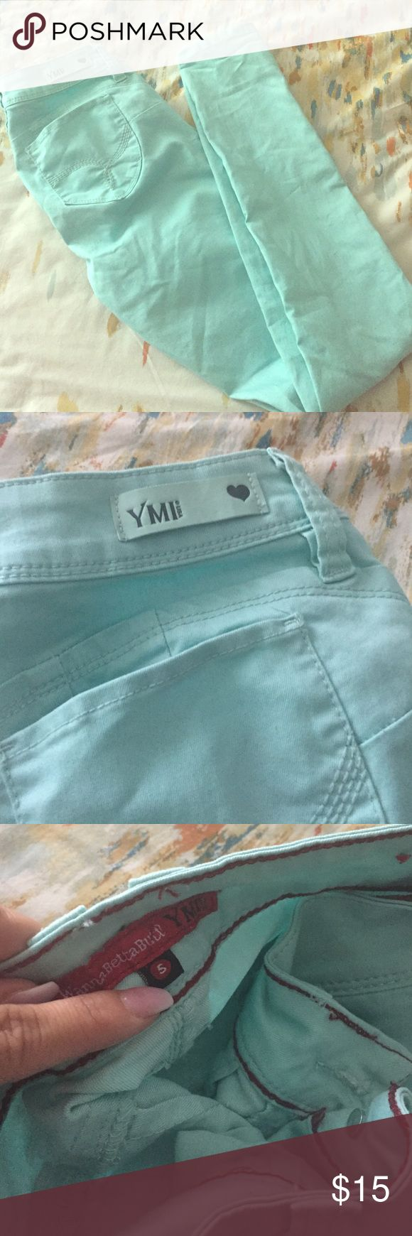 YMI light blue skinny jeans Light blue skinny YMI jeans used once YMI Jeans Skinny