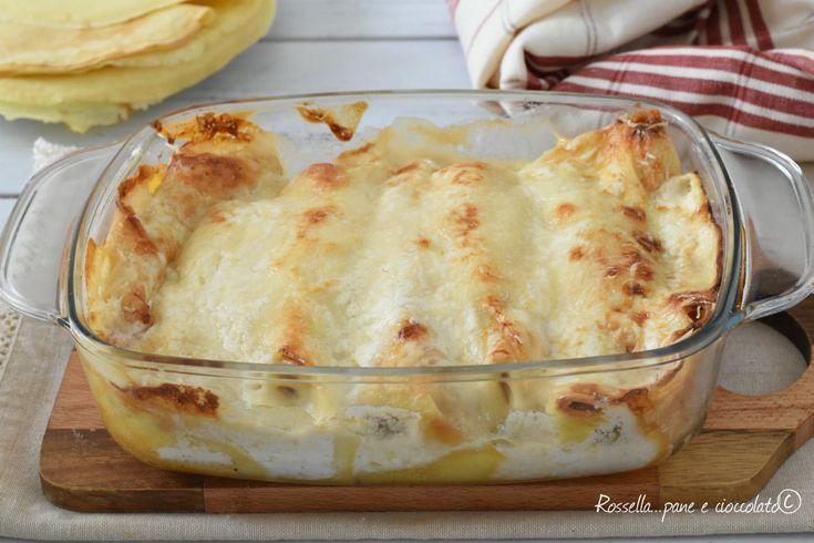 Le CRESPELLE al FORNO prosciutto e formaggio sono ottime per tutte le occasioni, cremose e veloci piacciono davvero tanto