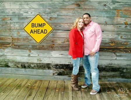 Bump Ahead - Baby Announcement; so cute!